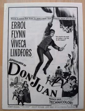 Adventures of Don Juan (1948) - Errol Flynn | Vintage Trade Ad